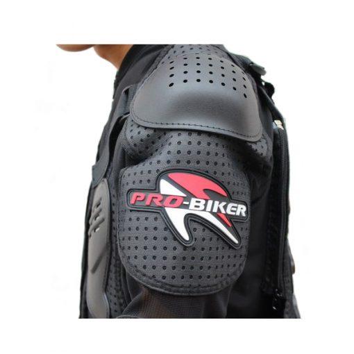 Pro Biker Motorcycle Hard Shell Safety Jacket Size XL - Black