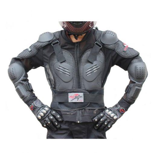 Pro Biker Motorcycle Hard Shell Safety Jacket Size XXXL - Black