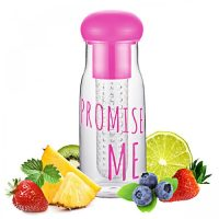 Promise Me 750ml Infused Water Sports Bottle - Pink