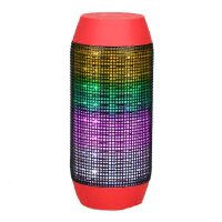 Pulse Wireless Bluetooth LED Speaker - Red