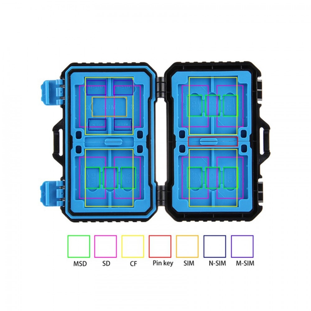 Puluz Card Storage Case and Reader - Black