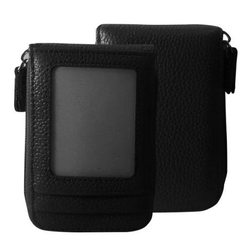 Leather Credit Card Wallet - Black