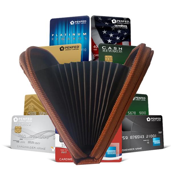 Leather Credit Card Wallet - Orange