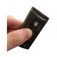 PRIMO Metal Finish Wind Proof USB Rechargeable Arc Lighter - Black