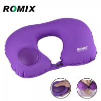 Romix Hand Inflatable Travel Neck Pillow  - Purple