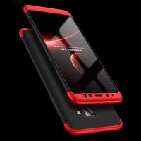 GKK Samsung A8 Plus 360 Full Protection Case - Red