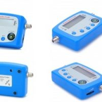 Mini Digital Satellite Finder with Compass-Sky Blue