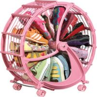 56cm 12 Pairs Shoe Wheel Storage - Pink