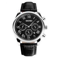 30M Waterproof LG9078 Chrono Casual Watch  -  Black