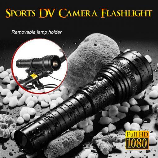 Flashlight With Video Recorder - Black