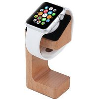 Charging Dock Compatible For Apple Watch - Wood Finish
