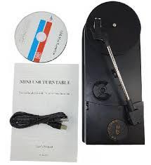 Portable USB Vinyl Turntable Audio Player To MP3 Converter