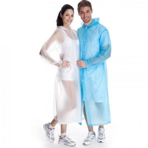 Disposable Raincoat Rain Protector Adult XXL– White