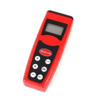 18 Meters Ultrasonic Distance Measurer With  Laser Point - Red