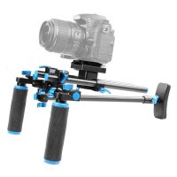 Dual Grip Shoulder Camera Stabilizer - Black