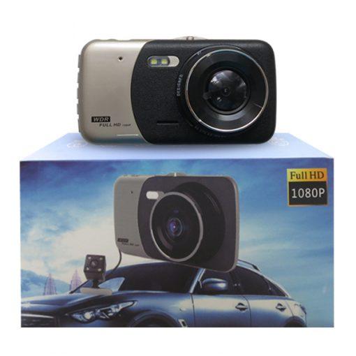 LGB50 DUAL CAMERA 1080P CAR CCTV DASHCAM - - Silver