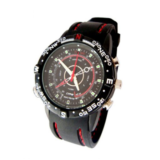 8 Gb Water Resistant Watch With Camera - Black/Red