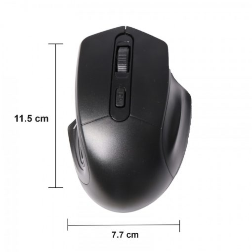 2.4 Ghz 1600 DPI Wireless Mouse - Black