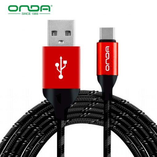 ONDA XC15 1 Meter Type-C Cable - Black
