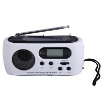 Multifunction Dynamo And Solar Powered AM FM Radio with LED Flashlight Siren And Phone Charger