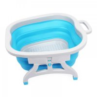 Foldable Foot Spa Massage Silicone Basin – Blue