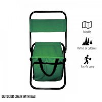 Portable Folding Chair with Storage Bag - Green