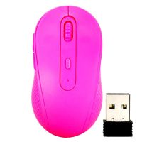 Fruit Series Wireless 1480 DPI Optical Mouse- Pink