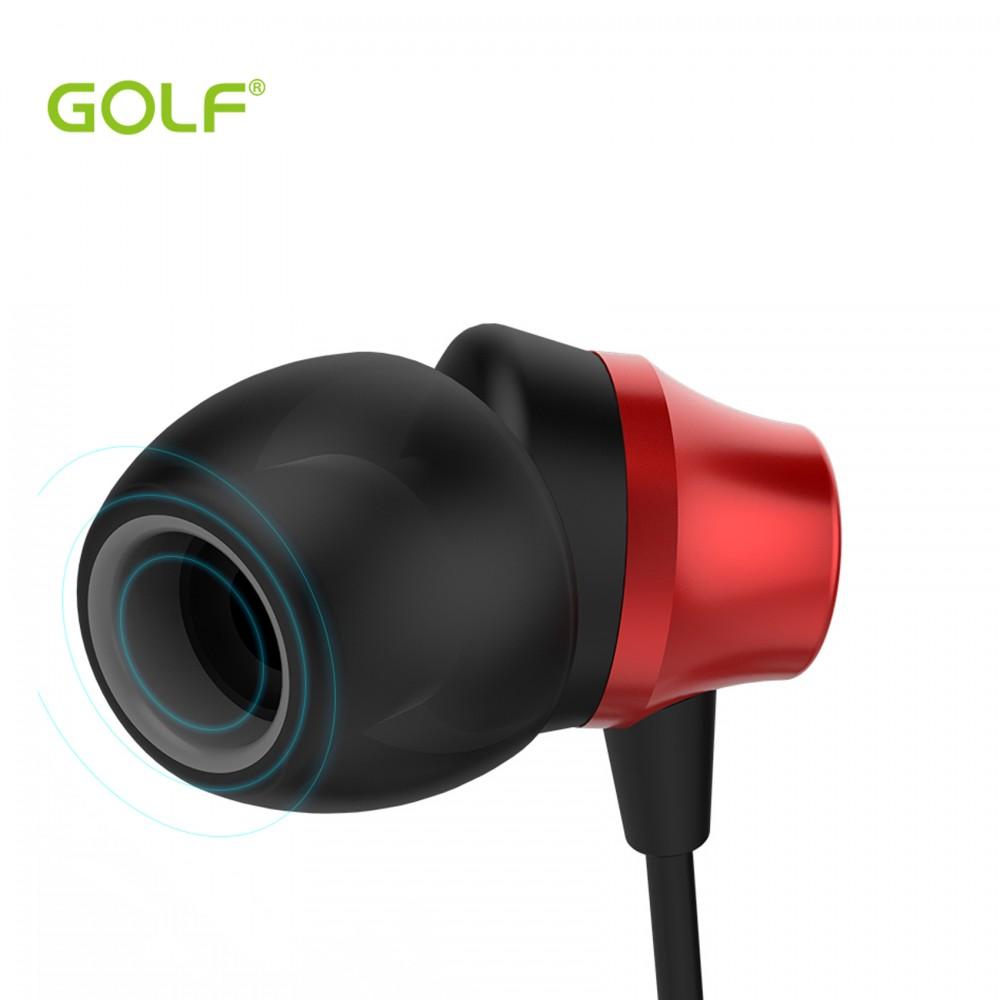 Golf M14 Super Heavy Bass In Ear Earphones  - Red