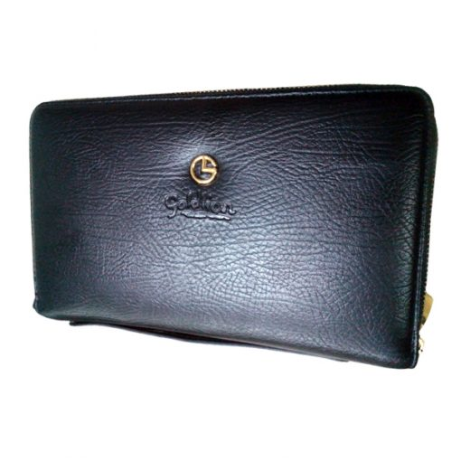 Leather Hand Bag With Spy Camera And Remote Control - Black