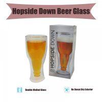 Hopside Down Beer Glass - Transparent