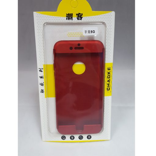 360 Degree Case Iphone 8 - Red
