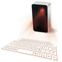 Rechargeable Bluetooth Laser Projection Keyboard - Silver/Black