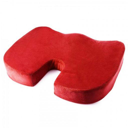 Memory Foam Orthopedic Seat Cushion - Red