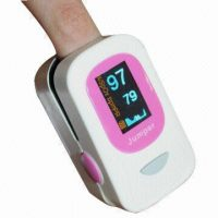 Finger Pulse Oximeter With Graphical Wave Information - Pink