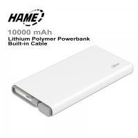 HAMEQC110000mahLi-PolymerPowerbankwithQualcommQuickCharge3.0 Port - White