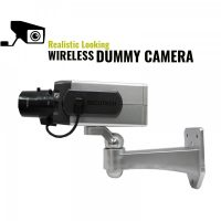 Realistic Fake Dummy Gun Style Surveillance Camera With Motion Activated Blinking RED LED - Silver