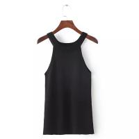 Sleeveless Halter Slim Bottoming Shirt - Black