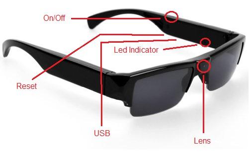 Sunglass With HD Video Camera