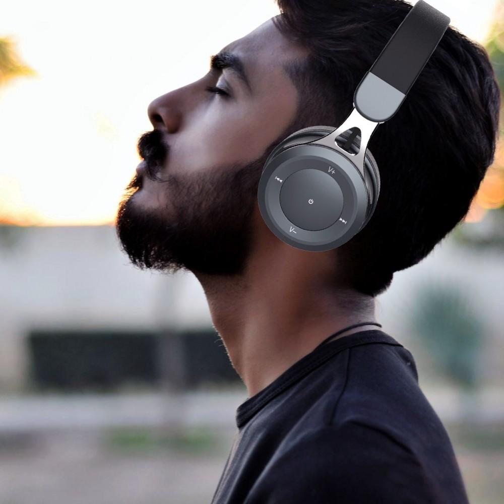 Vidvie BBH2102 Heavy Bass Smart Wireless Bluetooth Headset - Gray