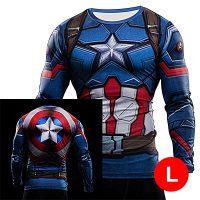 Super Hero Compression Wear Captain America Large - Blue