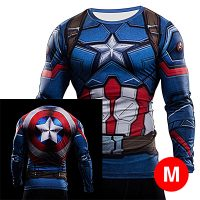 Super Hero Compression Wear Captain America Medium - Blue