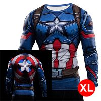 Super Hero Compression Wear Captain America XL - Blue