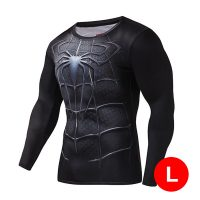 Super Hero Compression Wear Spider Man Large - Black