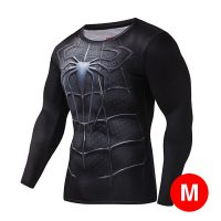 Super Hero Compression Wear Spider Man Medium - Black