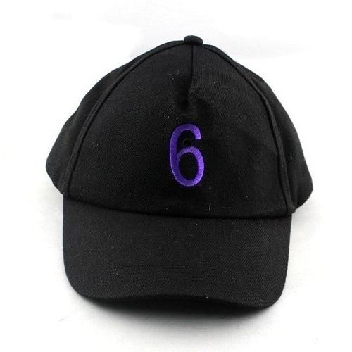 Spy Baseball Number 6 Cap Hidden Pinhole Video Camera DVR with Remote Control - Black