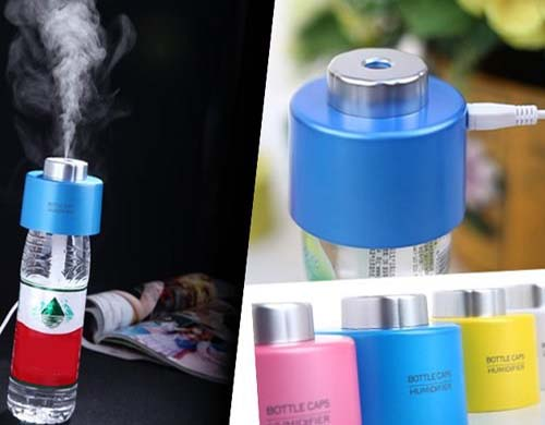 USB Bottle Cap Air Humidifier- Blue