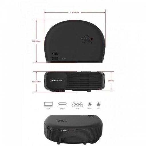 Cheerlux CL760 Home Theater Android Projector - Black