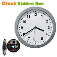 Wall Clock with Hidden Safe - Gray