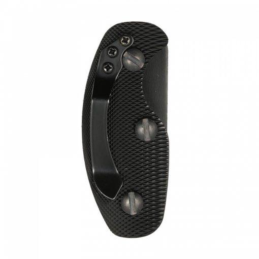 Compact Aluminum Alloy Key Holder - Black