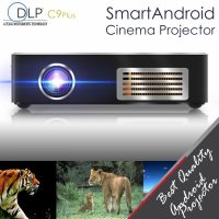 C9 Plus Rechargeable Wifi Smart Android Cinema DLP Projector - Black